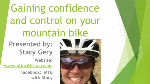 Mountain Biking Free Educational Presentation presented by MTB with Stacy at PPLD - East Library, Colorado Springs CO