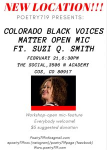 Poetry 719: Colorado Black Voices Matter presented by Poetry 719 at ,