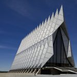 Air Force Academy Cadet Chapel located in USAF Academy CO