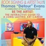 """CANCELED: Book Signing & Artist Talk with Thomas """"Detour"""" Evans presented by HR Meininger Art Supply at ,"""