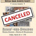 CANCELED: Buffalo Grass Acoustic Society Concert presented by Buffalo Grass Acoustic Society at ,