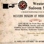 POSTPONED: Western Saloon Night presented by Western Museum of Mining & Industry at Western Museum of Mining and Industry, Colorado Springs CO