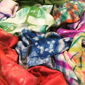 Dip and Dye Silk Scarves and Scruchies presented by Textiles West at TWIL at the Manitou Art Center, Manitou Springs CO