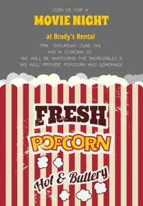 Movie Night at Brady's presented by Home at ,