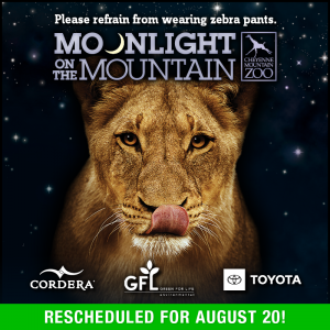 SOLD OUT: Moonlight on the Mountain presented by Cheyenne Mountain Zoo at Cheyenne Mountain Zoo, Colorado Springs CO