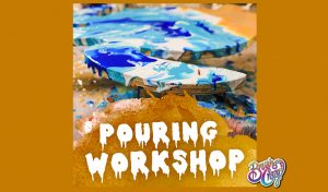 Pouring Art Workshop presented by Brush Crazy at Brush Crazy, Colorado Springs CO