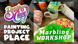 Marbling Workshop presented by Brush Crazy at Brush Crazy, Colorado Springs CO