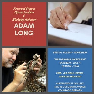 Drawing Workshop with Adam Long presented by Hunter-Wolff Gallery at Hunter-Wolff Gallery, Colorado Springs CO