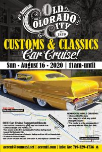 Old Colorado City Car Cruise presented by Home at ,