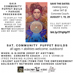 Community Puppet Build for Black Lives Matter Movement presented by Concrete Couch at ,