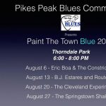 Eric Boa and the Constrictors presented by Pikes Peak Blues Community at Thorndale Park, Colorado Springs CO