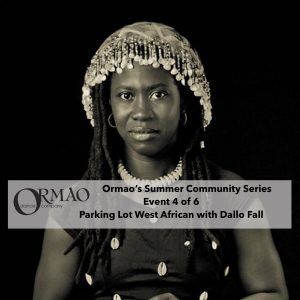 Parking Lot West African Drumming with Dallo Fall presented by Ormao Dance Company at Ormao Dance Company, Colorado Springs CO