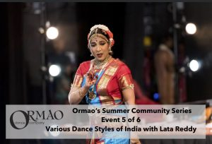 Parking Lot Various Dance Styles of India with Lata Reddy presented by Ormao Dance Company at Ormao Dance Company, Colorado Springs CO