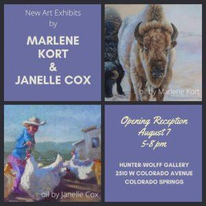 Marlene Kort & Janelle Cox presented by Hunter-Wolff Gallery at Hunter-Wolff Gallery, Colorado Springs CO