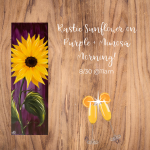 Rustic Sunflower on Purple and Mimosa Morning presented by Painting with a Twist: Downtown Colorado Springs at Painting with a Twist Colorado Springs Downtown, Colorado Springs CO