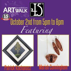 Patrick Kochanasz & Mariah Cunningham presented by 45 Degree Gallery at 45 Degree Gallery, Colorado Springs CO