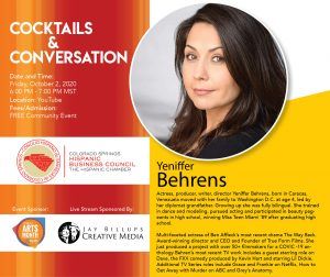 Hispanic Chamber's Cocktails and Conversation with Yeniffer Behrens presented by Cyber Poetry Festival at Online/Virtual Space, 0 0