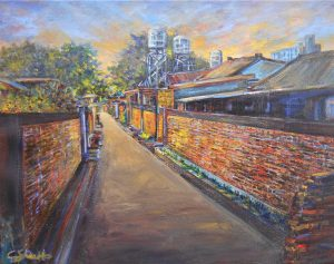 'The Passage of Time – Grandma's Village' presented by Academy Art & Frame Company at Academy Frame Company, Colorado Springs CO