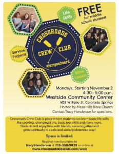 Crossroads Crew Club presented by Peak Radar Live: Counterweight Theater Lab's 'Dream by Day' at Westside Community Center, Colorado Springs CO