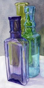 Painting Glass in Watercolor Workshop presented by Pikes Peak or Bust: Colorado's Women '59ers at Online/Virtual Space, 0 0