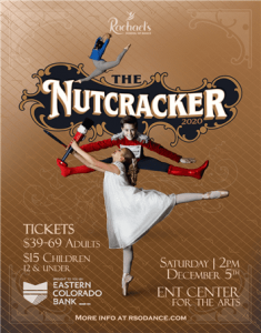 'The Nutcracker' presented by Rachael's School of Dance at Ent Center for the Arts, Colorado Springs CO