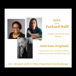 'Live from Packard Hal' Faculty Artists Concert Series: American Originals presented by Colorado College at Online/Virtual Space, 0 0