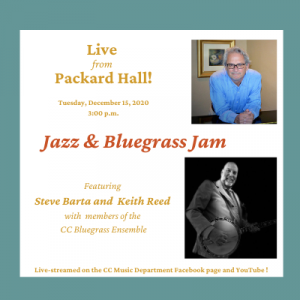 Faculty Artists Concert Series: Jazz & Bluegrass Jam presented by Colorado College Music Department at Online/Virtual Space, 0 0