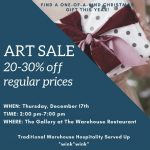 Art Sale presented by Warehouse Restaurant & Gallery at Warehouse Restaurant & Gallery, Colorado Springs CO