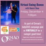 Swing Dance with Naomi Skee presented by Ormao Dance Company at Online/Virtual Space, 0 0