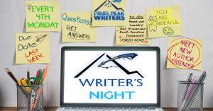 Writers' Night presented by Pikes Peak Writers at Online/Virtual Space, 0 0