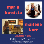 Marlene Kort & Maria Battista Trunk Show presented by Hunter-Wolff Gallery at Hunter-Wolff Gallery, Colorado Springs CO