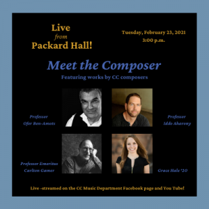 Faculty Artists Concert Series: Meet the Composer presented by Colorado College Music Department at Online/Virtual Space, 0 0