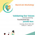 March Art Workshop presented by Finding Our Voices at Online/Virtual Space, 0 0