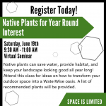 Native Plants for Year Round Interest presented by  at Online/Virtual Space, 0 0