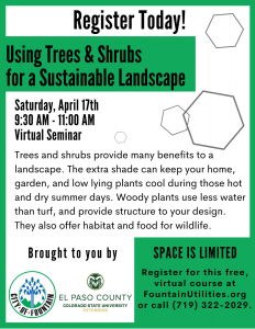 Using Trees & Shrubs for a Sustainable Landscape presented by Parsons Honoring the Brave Golf Tournament at Online/Virtual Space, 0 0