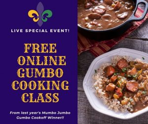 Geaux Gumbo Cooking Class presented by Gather Food Studio & Spice Shop at Online/Virtual Space, 0 0