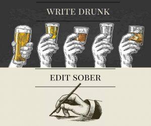 Write Drunk, Edit Sober presented by Pikes Peak Writers at Online/Virtual Space, 0 0