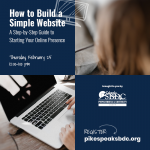 How to Build a Simple Website: A Step by Step Guide to Starting Your Online Presence presented by Pikes Peak Small Business Development Center at Online/Virtual Space, 0 0