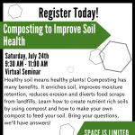 Composting to Improve Soil Health presented by  at Online/Virtual Space, 0 0