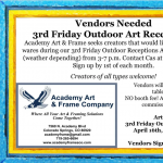 CALL FOR VENDORS: 3rd Friday Outdoor Receptions presented by Academy Art & Frame Company at Academy Frame Company, Colorado Springs CO