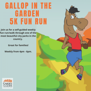 Gallop in the Garden 5k Fun Run presented by Garden of the Gods Visitor & Nature Center at Garden of the Gods Visitor and Nature Center, Colorado Springs CO