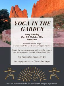 Yoga in the Garden presented by Garden of the Gods Visitor & Nature Center at Garden of the Gods Visitor and Nature Center, Colorado Springs CO