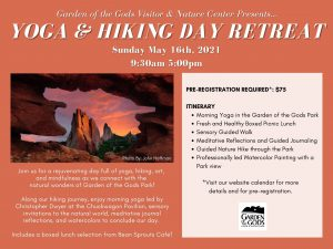 Yoga and Hiking Day Retreat presented by Garden of the Gods Visitor & Nature Center at Garden of the Gods Visitor and Nature Center, Colorado Springs CO