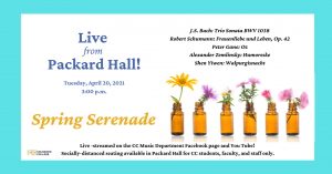 Faculty Artists Concert Series: Spring Serenade presented by Colorado College Music Department at Online/Virtual Space, 0 0