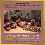 Gamelan Ensemble Concert presented by Colorado College Music Department at Online/Virtual Space, 0 0