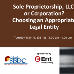Sole Proprietorship, LLC, or Corporation? Choosing an Appropriate Legal Entity presented by Pikes Peak Small Business Development Center at Online/Virtual Space, 0 0