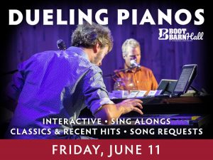 Dueling Pianos presented by Boot Barn Hall at Boot Barn Hall at Bourbon Brothers, Colorado Springs CO