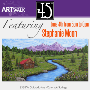 Stephanie Moon presented by 45 Degree Gallery at 45 Degree Gallery, Colorado Springs CO