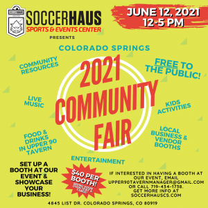 Community Fair At The SoccerHaus presented by Peak Radar Live: Counterweight Theater Lab's 'Dream by Day' at ,