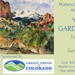 Watercolor Workshop presented by Garden of the Gods Visitor & Nature Center at Garden of the Gods Visitor and Nature Center, Colorado Springs CO